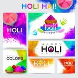 Social Media banner set for Holi Festival celebration. Creative Social Media banner set for Indian Festival of Colours, Happy Holi celebration Royalty Free Stock Images