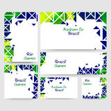Social Media Banner set for Rio Brazil Games. Creative Social Media Banner set with abstract design for Rio or Brazil Games, Summer Olympics concept Royalty Free Stock Photography