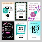 Social media banner templates bundle Stock Photos