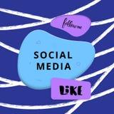 Social media banner with lettering. Vector illustration. royalty free illustration