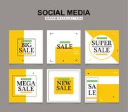 Social media banners pack. Vector illustrations for website and mobile website banners, posters, email and newsletter designs, ads. New Editable minimal square vector illustration