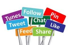 Social media banners Stock Photos