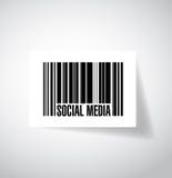 Social media barcode ups code illustration Stock Photos