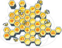 Social Media Bee Hive Royalty Free Stock Photography