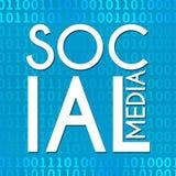 Social Media Binary Background Stock Photography