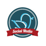Social media bird Stock Photo
