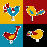 Social media birds set Royalty Free Stock Photography