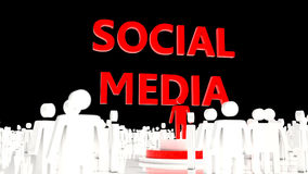 Social media black background crowd Royalty Free Stock Photos