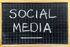 Social Media on a Blackboard Royalty Free Stock Photography