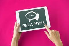 Social Media-Blog-Chat-Ikonen-Konzept Lizenzfreie Stockbilder