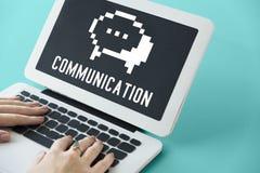 Social Media-Blog-Chat-Ikonen-Konzept Stockfoto