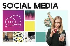 Social Media Blog Communication Chat Communication Concept Stock Images