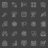 Social media and blog concept icons Royalty Free Stock Photos