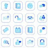 Social media&blog icons - blue series Stock Images