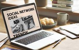 Social Media-Blog-Ideen-Konzept Lizenzfreie Stockbilder