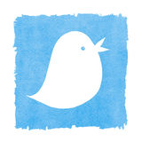 Social Media Blue Bird Tweeting Royalty Free Stock Photo