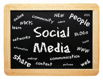 Social media board Royalty Free Stock Images
