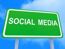 Social Media on board Royalty Free Stock Image