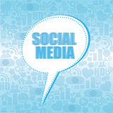 Social media box Royalty Free Stock Images