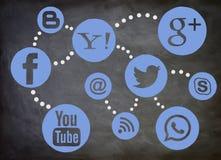 Social Media-Brett Lizenzfreie Stockfotografie