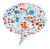 Social media bubble concept Stock Photography