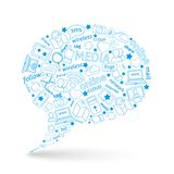 Social media bubble icon Royalty Free Stock Image