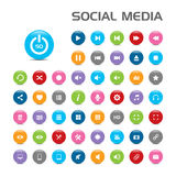 50 Social media bubble icons Stock Photo