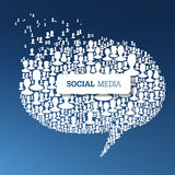 Social Media Bubble Speech Concept Royalty Free Stock Photos