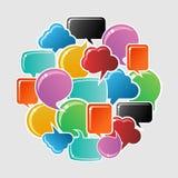 Social media bubbles circle Royalty Free Stock Photo