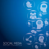 Social media bubbles Royalty Free Stock Photo