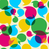 Social media bubbles pattern background Royalty Free Stock Photos