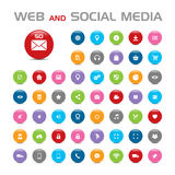 50 Social media buble icons Royalty Free Stock Photos