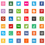 Social media business company logo icons royalty free stock photography