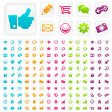 Social Media Business Icons. Set of social media and business icons