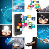 Social media business innovation technology concept design Royalty Free Stock Images