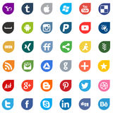 Social media,business and web icons Royalty Free Stock Photography