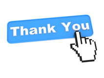 Social Media Button. Thanks on White Background royalty free illustration