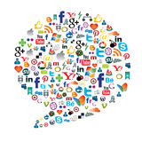 Social media button Royalty Free Stock Photo