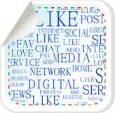 Social media button - label sticker Stock Images