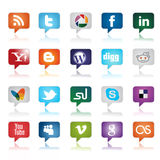 Social Media Buttons Royalty Free Stock Photography