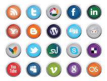 Social Media Buttons Royalty Free Stock Photos