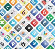 Social Media Buttons Royalty Free Stock Photo