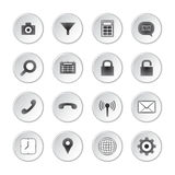 Social media buttons. Modern social media buttons set Stock Illustration