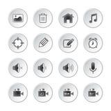 Social media buttons Stock Photo