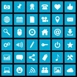 Social media buttons Stock Images