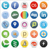 Social media buttons. Zip includes 300 dpi JPG, Illustrator CS, EPS10. Vector with transparency Royalty Free Stock Photography