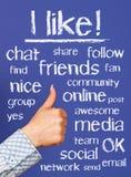 Social media buzzwords Stock Photography