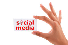 Social media card Stock Photos