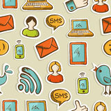 Social media cartoon icons pattern Stock Photo