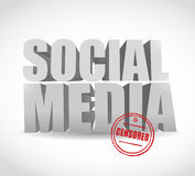 Social media censored sign illustration Royalty Free Stock Image